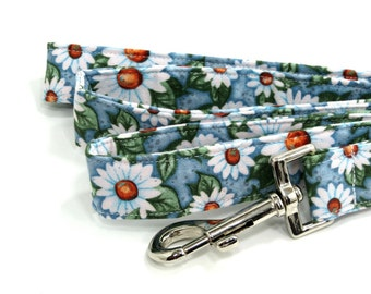 Dog Leash Dog Leads Dog Accessories Daisy Fabric Dog Accessories