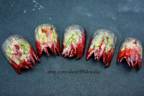 Gnarly Zombie Costume Nails for Halloween