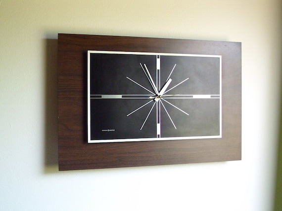 Large Mid Century Modern Wall Clock General Electric By