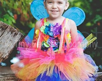 Fairy, Fairy Costume, Faerie Costume, Rainbow Fairy, Flower Fairy, Rainbow Party, Pixie Dress, Pixies Costume, Outfit of Choice