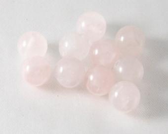 8mm Round Rose Quartz Semi Precious Beads