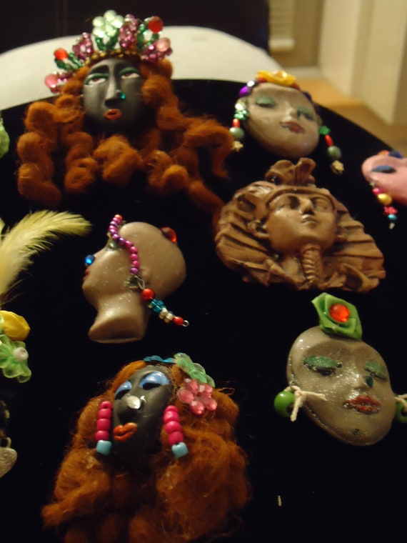 OOAK, Exotic ,polymer clay ,colorful refrigerator magnets.....