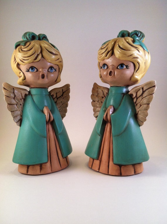 Black Friday / Cyber Monday - Ceramic Angel Figurines Retro Vintage Antique
