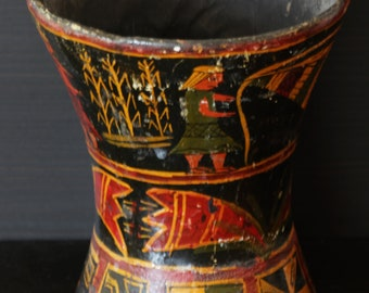 ON SALE! Wooden Incan Colonial Handmade Kero or Quero Cup