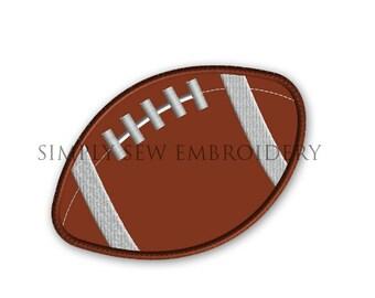 Football Applique -- Boy Embroidery Design Machine Applique No. 045