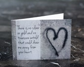 Romance Card / Valentines Day/ Love Poem / Heart / Silver or Gold