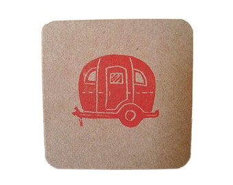 Vintage Camper mini cards, notecards, gift tags
