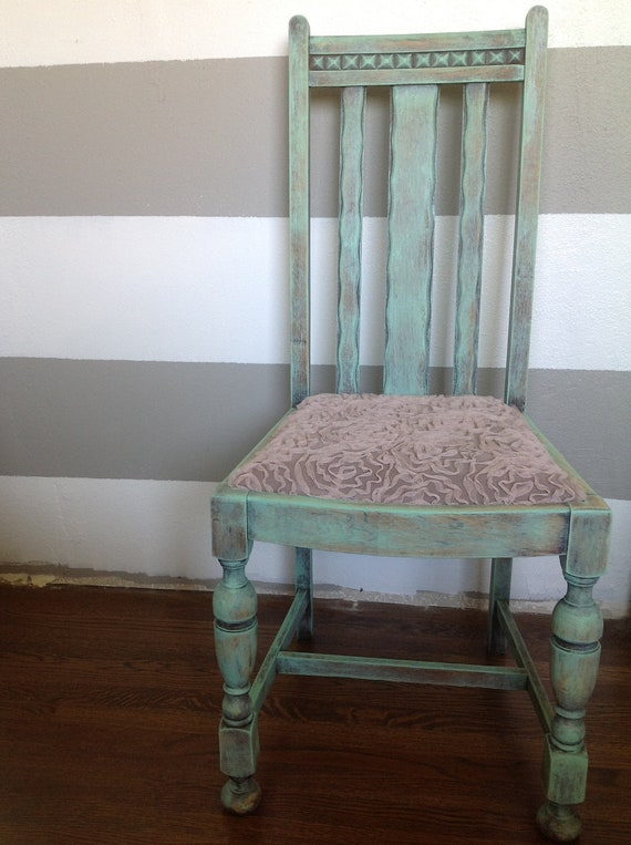 Distressed Mint Green Chair