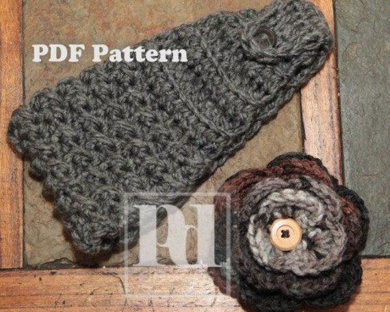 headband knitted headband with button closure pattern ...