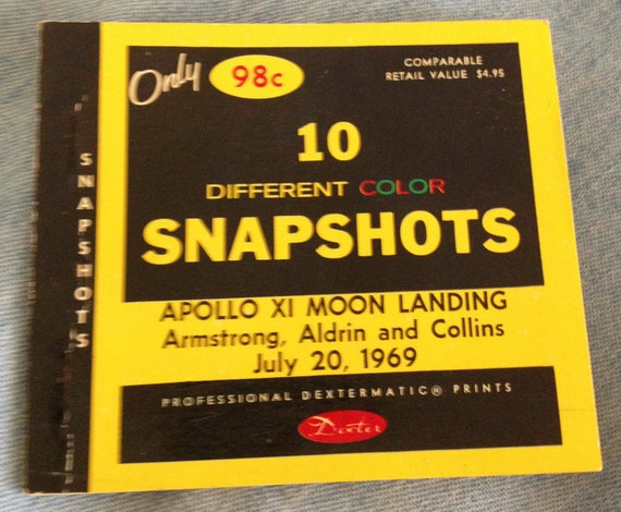 1969 Apollo XI Moon Landing Color Prints By Dexter Press