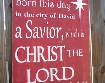 Christmas Sign, Religious, Christmas, Country Christmas, North Star, Savior is Born