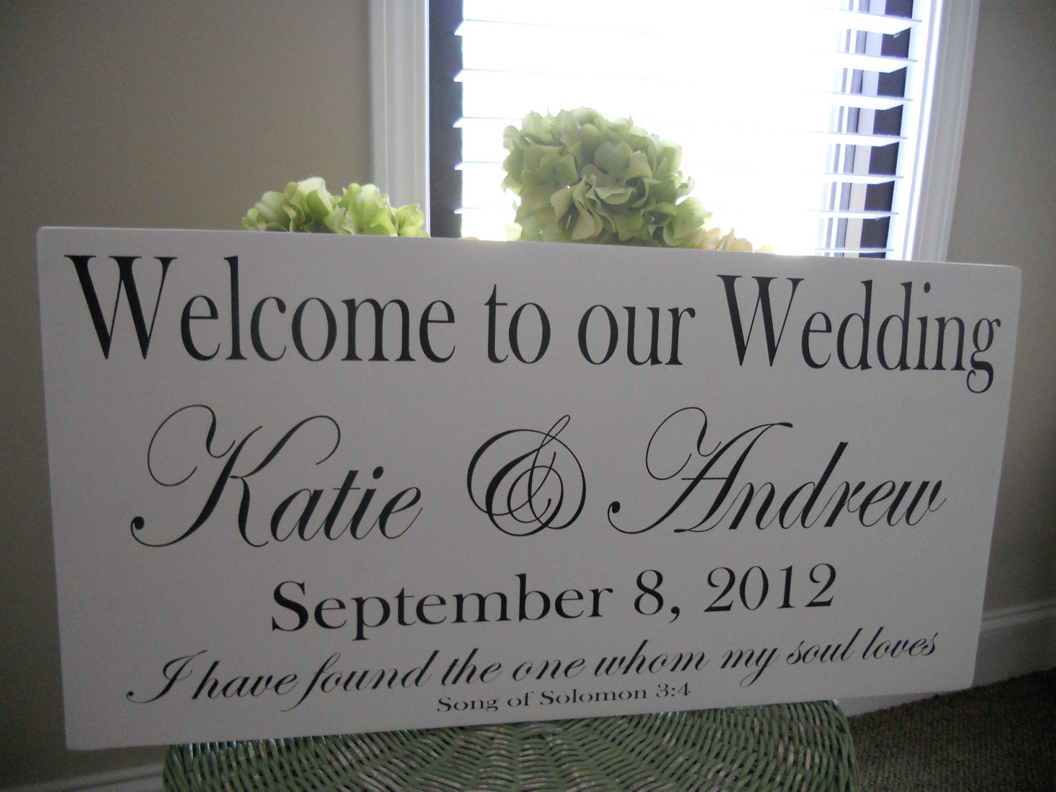 wedding signs welcome to our wedding with names and date On personalized wedding signs