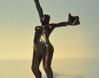 bronze sculpture of dancing figure variation 3