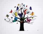 "8""x10"" Butterfly Tree Print"