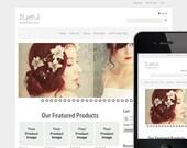 Light Gray Elegant WordPress Ecommerce Website Design / Premade Website Template
