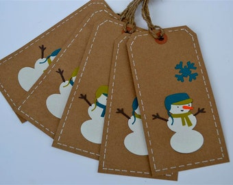 Christmas Tags - (Set of 5) - Christmas Gift Tags