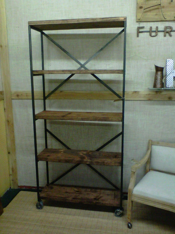 Industrial Inspired Bookcase with Open Shelving