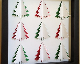 Christmas Tree, 3D Paper art, other colors are available