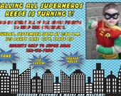 Superhero Comic Birthday Invitation - Custom Digital File