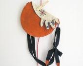 Hip bag - Waist or shoulder purse from a vintage doily