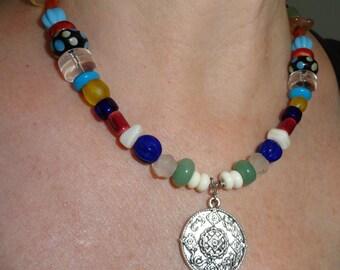 Viking Bead Necklace  #LB1 v