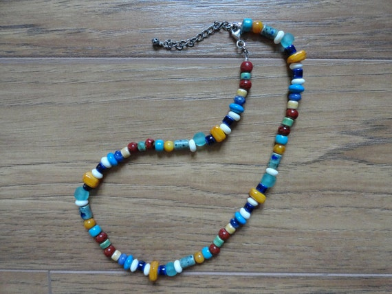 Viking-style Porcelain beaded necklace