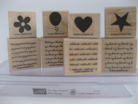 Mini Messages Stampin Up Stamp Set Retired Words Images