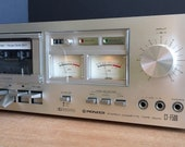 Beautiful Silver Face Pioneer CT-F500 Tape Deck Analog VU Meters Dolby Mic Inputs