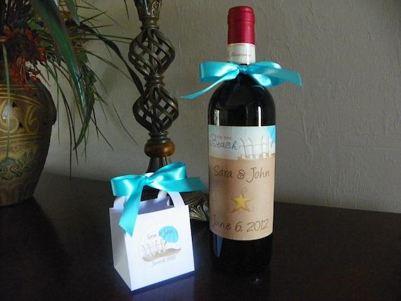 wedding wine bottle labels beach wedding