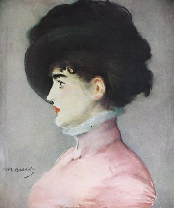 Manet- Portrait of Irma Brunner by Edouard Manet, Painting Masterpiece, 1953 Print