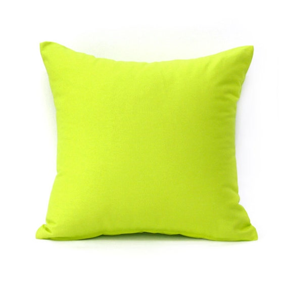 18 X 18 Solid Lime Green Throw Pillow Cover by BHDecor on Etsy