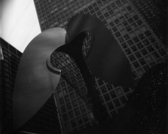 Chicago Pablo Picasso Statue Polaroid Photograph