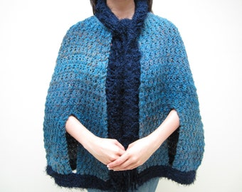 Knitting Pattern Cape Arm Slits : Arm slit cape Etsy UK