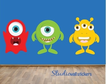 Monsters Wall Decal REUSABLE