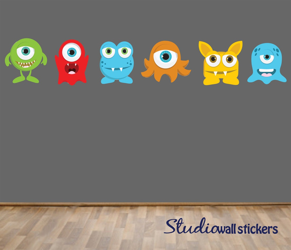 reusable monsters wall decal childrens fabric wall decal rmk2011gm monsters inc giant mike wazowski giant wall stickers