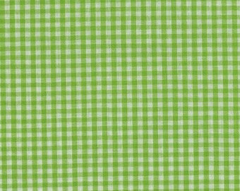 """Fabric by the Yard 1/16"""" Gingham, 60"""" wide, Bright LIme, Fabric Finders, 1 yard"""
