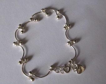 """Vintage Sterling Silver 7 1/2"""" Bracelet"""