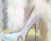 Bride Wedding Heels Stilettos Swarovski Ostrich