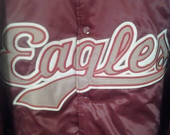 Vtg Eagles Team Throwback Starter Satin Jacket New