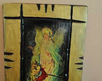The Guardian Angel, Icon.Unique Religious Art and Gifts for Your Special Ones