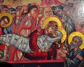 Lamentation of Christ, Icon.Unique Religious Art and Gifts for Your Special Ones