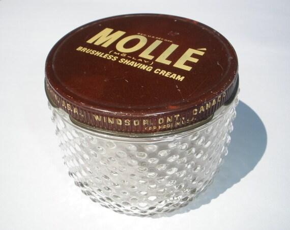 Molle Brushless Shaving Cream Jar with Lid