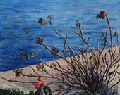 "Original acrylic painting ""Cliff Walk"" (11""x8"")"