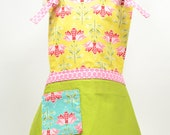 Apple Pie Children's Apron by Little Lilly LuLu - FREE SHIPPING, 2 coordinating mini towels