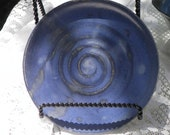 Wheel Thrown Plate Glazed in Deep Blue
