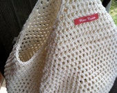 Crochet Farmer's Market/Grocery Tote Bag - Ivory