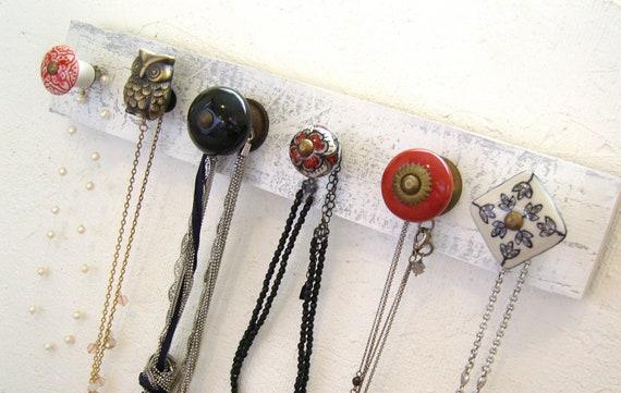 Jewelry Hanger with a Brass Owl Knob
