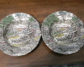 Enoch Wedgewood/ Tunstall bowls in colour design Dickens Coaching Days. SALE ITEM