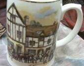 Vintage Pottery Tankard Mug Beer Old Coach House-York SALE ITEM