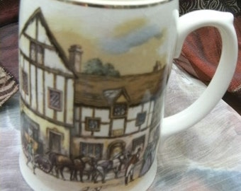 Vintage Pottery Tankard Mug Beer Old Coach House-York SALE ITEM